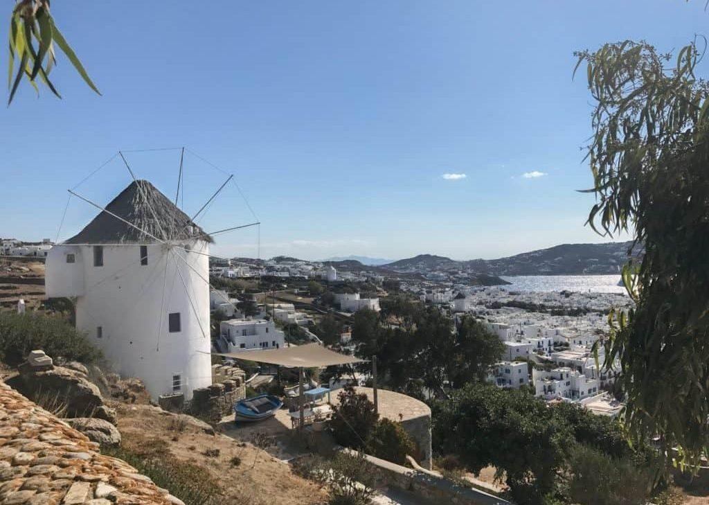 windmill in mykonos island Greece