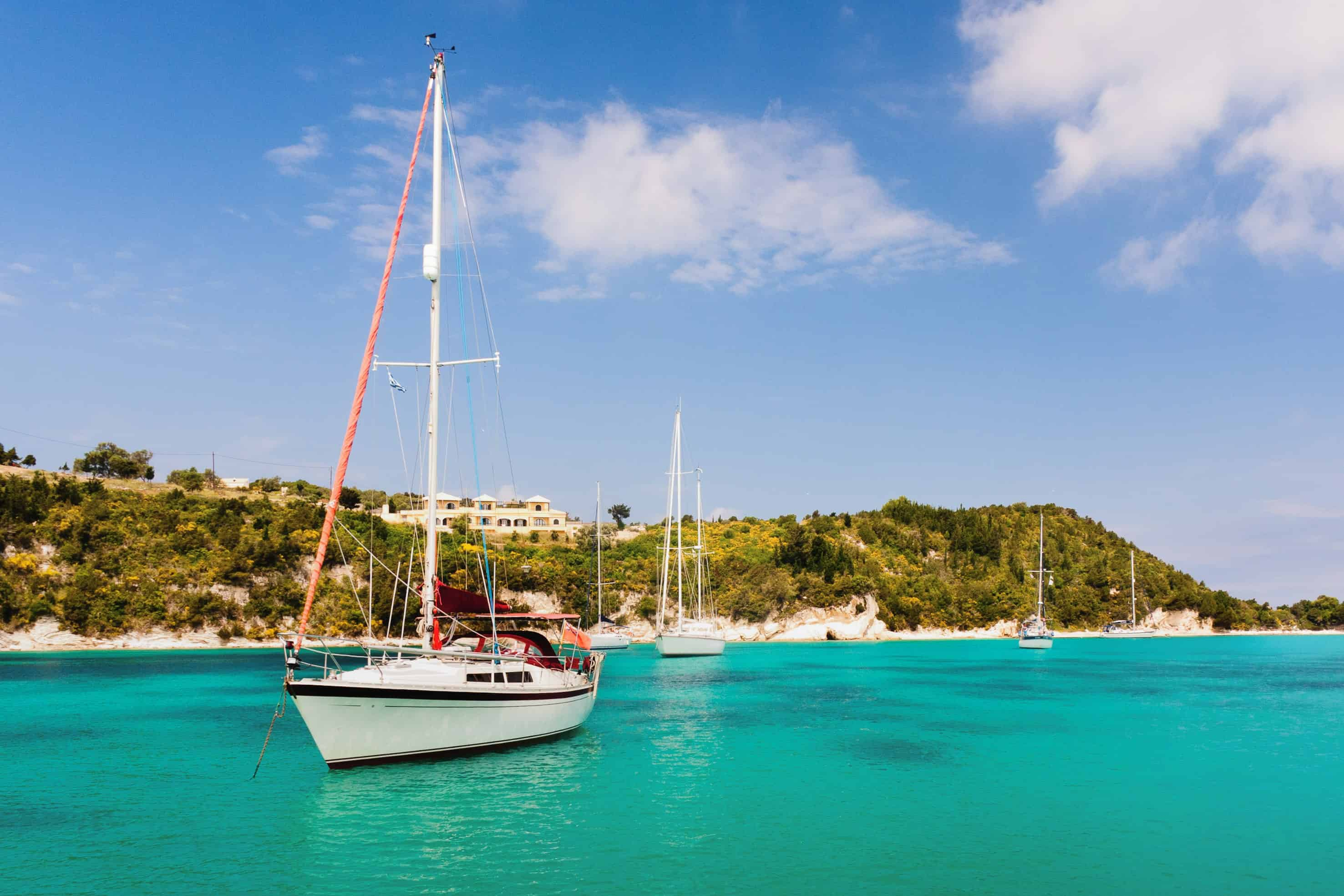 activities nature lovers - sailing boat in greece