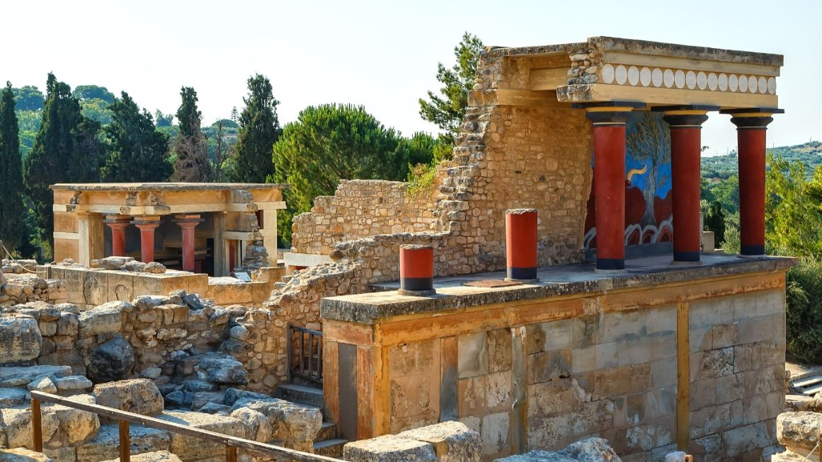 Palace of Knossos Crete - Canva Library Image - Olympian Gods and their Islands