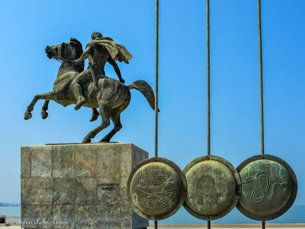 Thessaloniki Alexander the Great Statue Thessaloniki