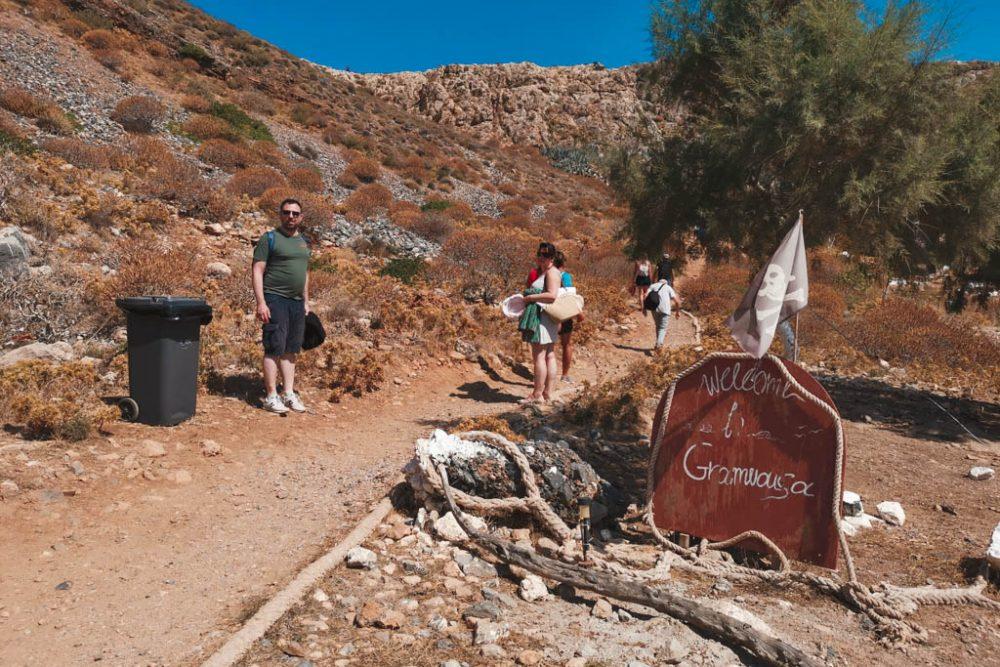 gramvousa island Crete Greece - gramvousa and balos