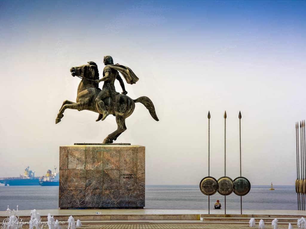 Thessaloniki Alexander the Great Statue Downtown