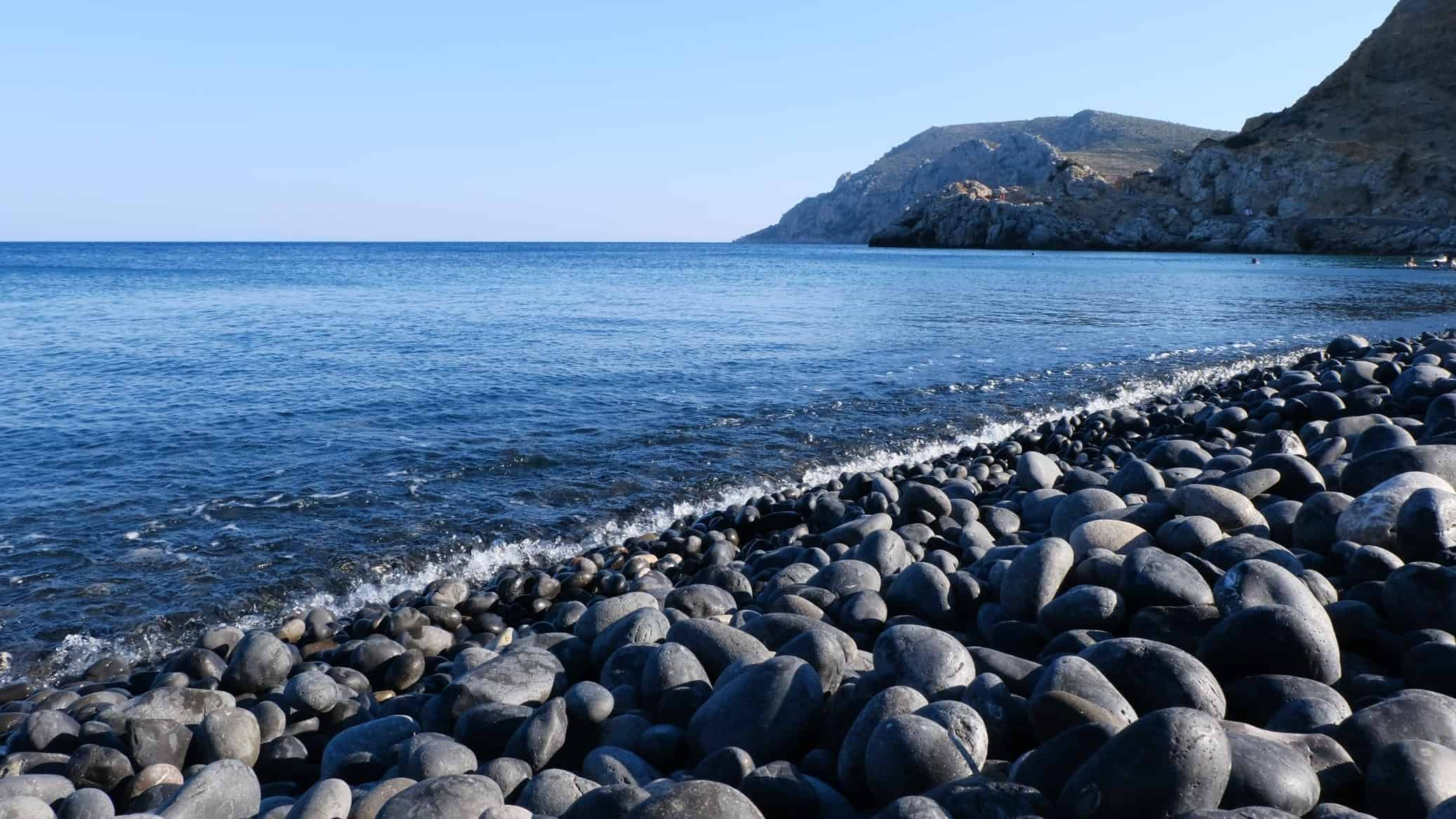 Black Beach Pebbles in Chios