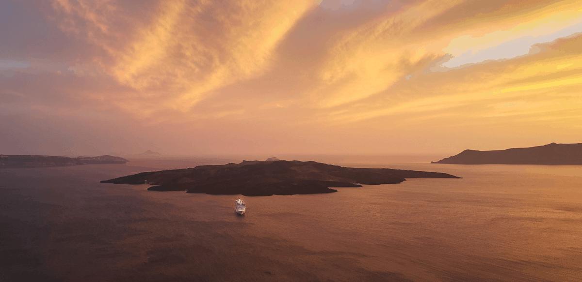 Santorini Island Greek Holidays Summer Sunset