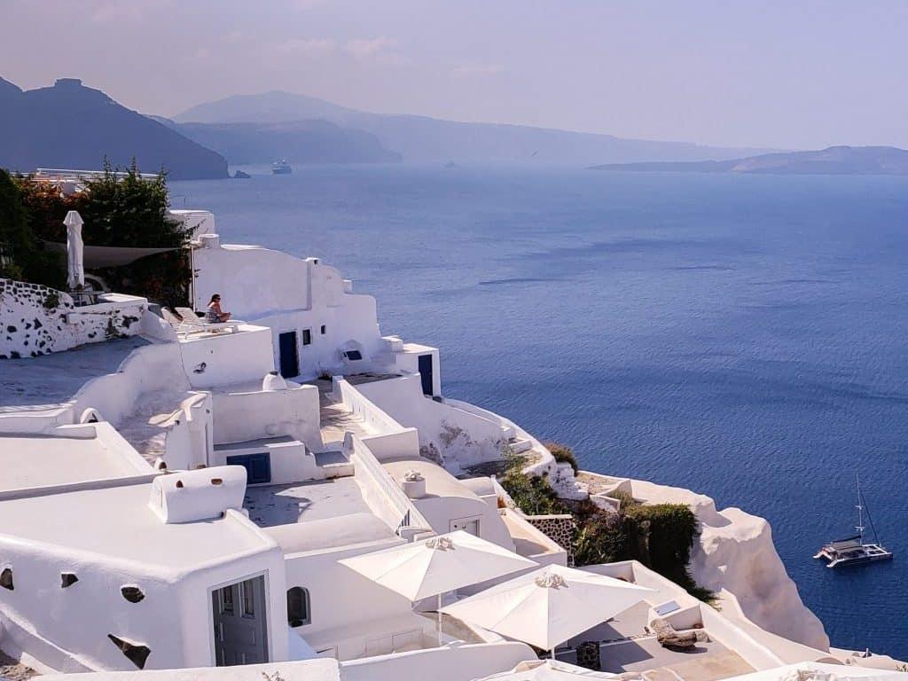 Santorini Island Greece Blue Sky