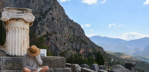 Ancient beauty from then to now (Delphi)