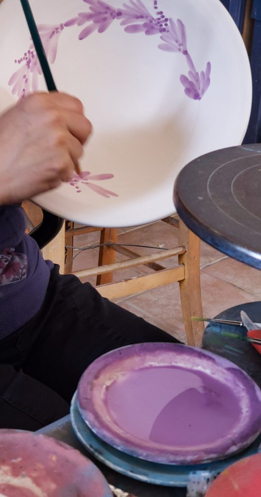 Kythira Plate painting Purple Greek Island Greece