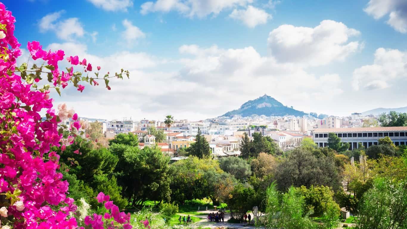 Athens Lycabettus Hill Greece
