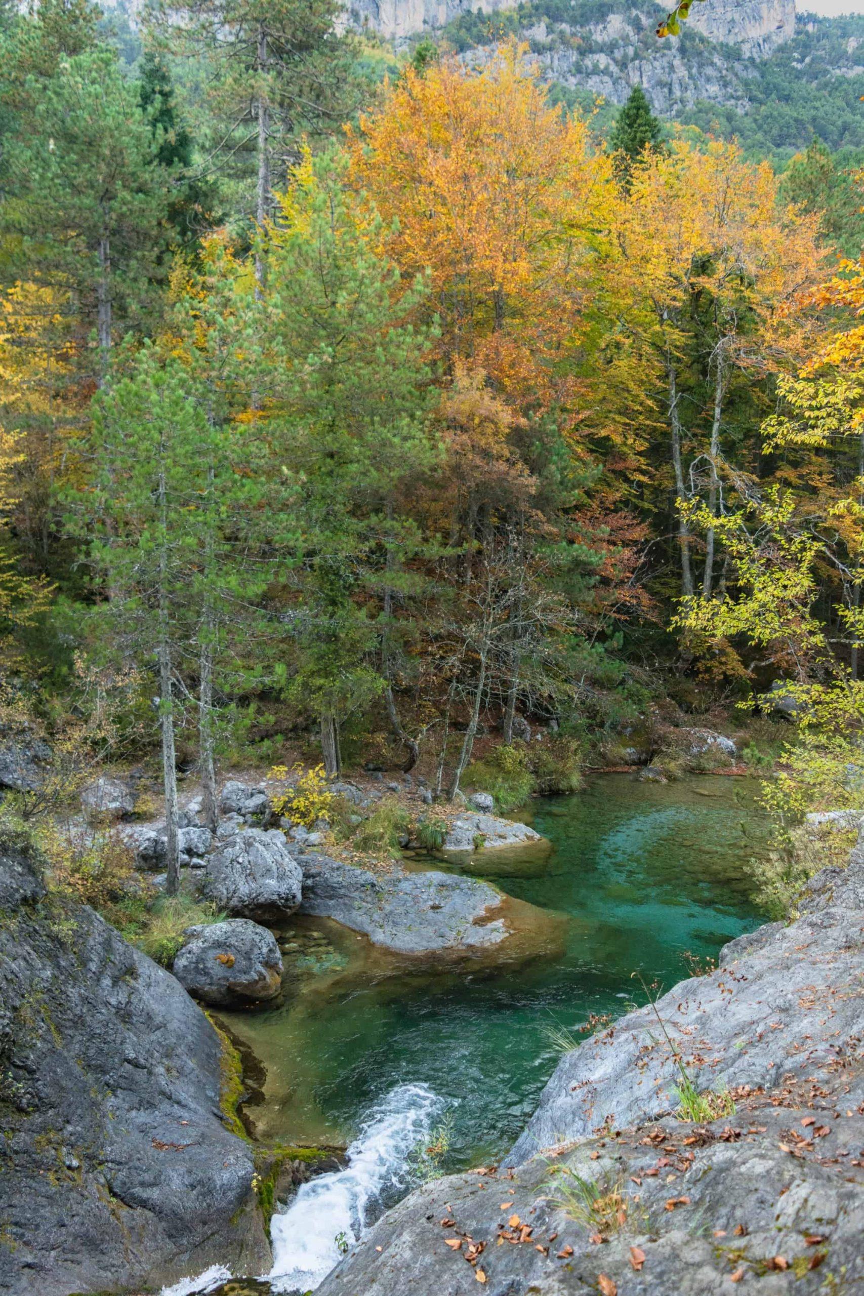 Mountain Northern Greece Trees Lake River