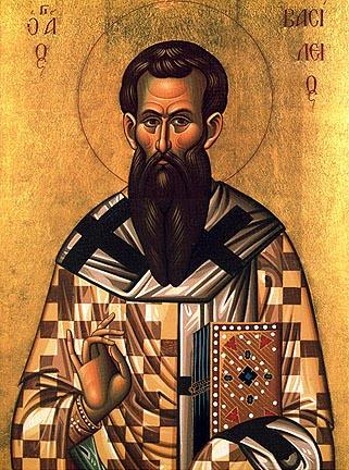 icon of saint Basil or Agios Vasilios