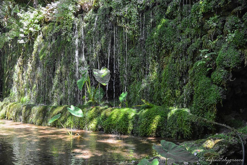 argyroupoli waterfall village in Crete