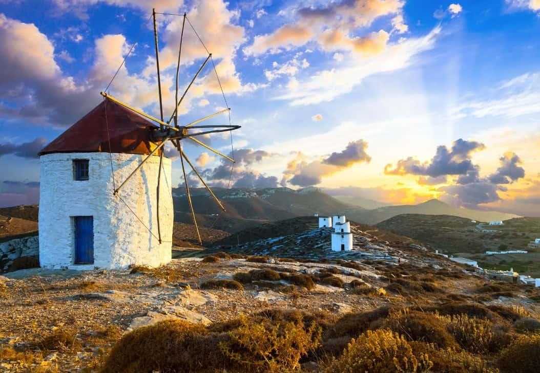 Amorgos quiet greek Island - Windmills