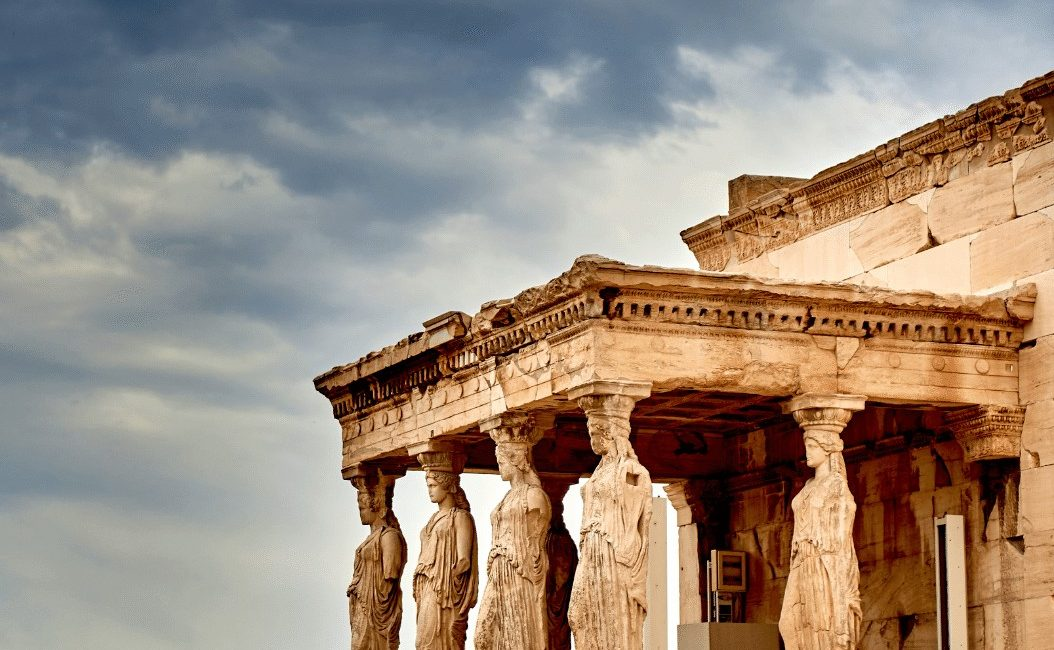 Karyatides Details on Acropolis Athens Greece
