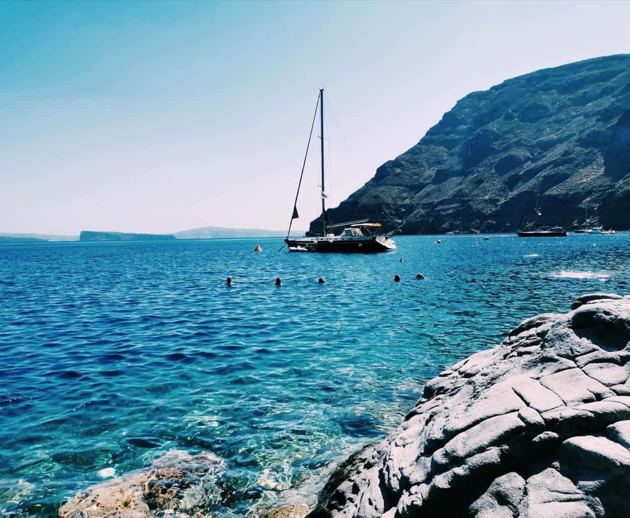Santorini Therasia Beach