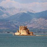 Bourtzi in Nafplion Peloponnese