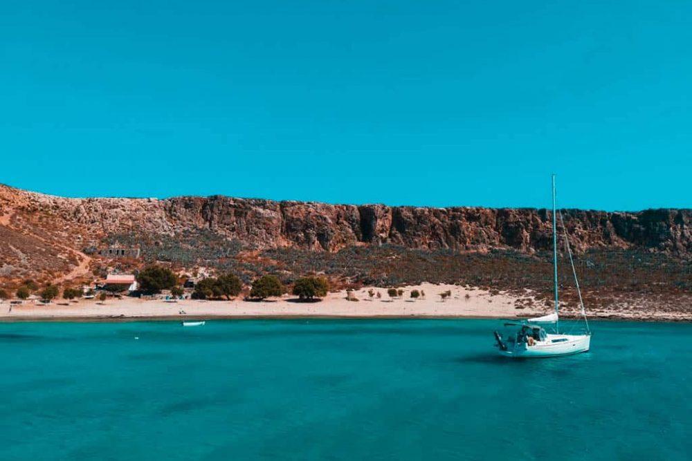 Gramvousa Balos Island Crete Boat View Beach