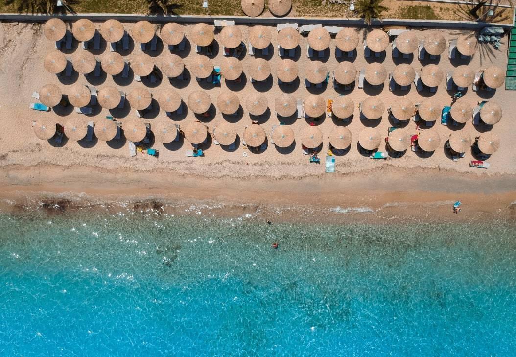 Halkidiki Aerial Photo Peninsula Greece Holiday