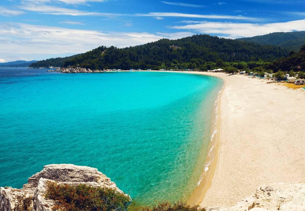 Halkidiki Beach Sand Summer Holiday Armenistis Camping Greece