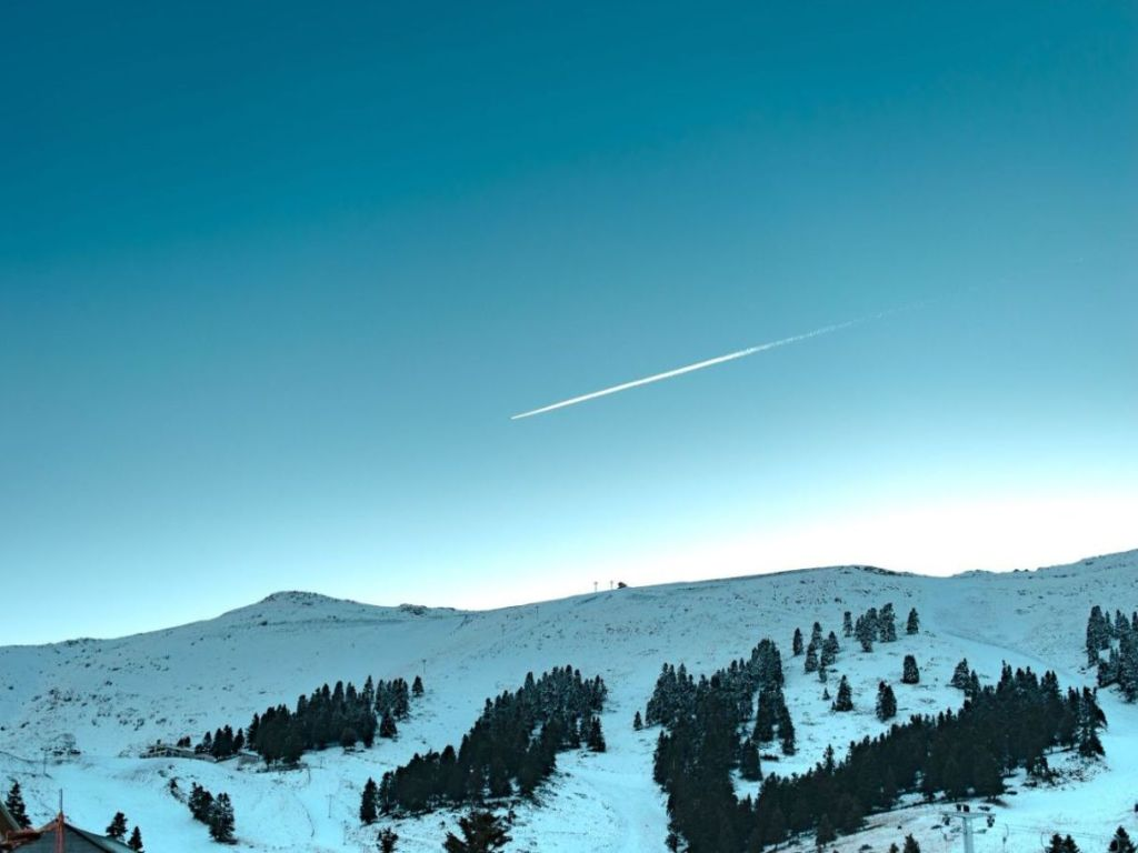 Ski Center Kalavryta Greece Winter Snow