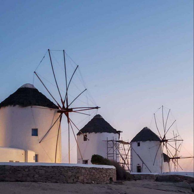 Mykonos Windmills Greek Island Summer