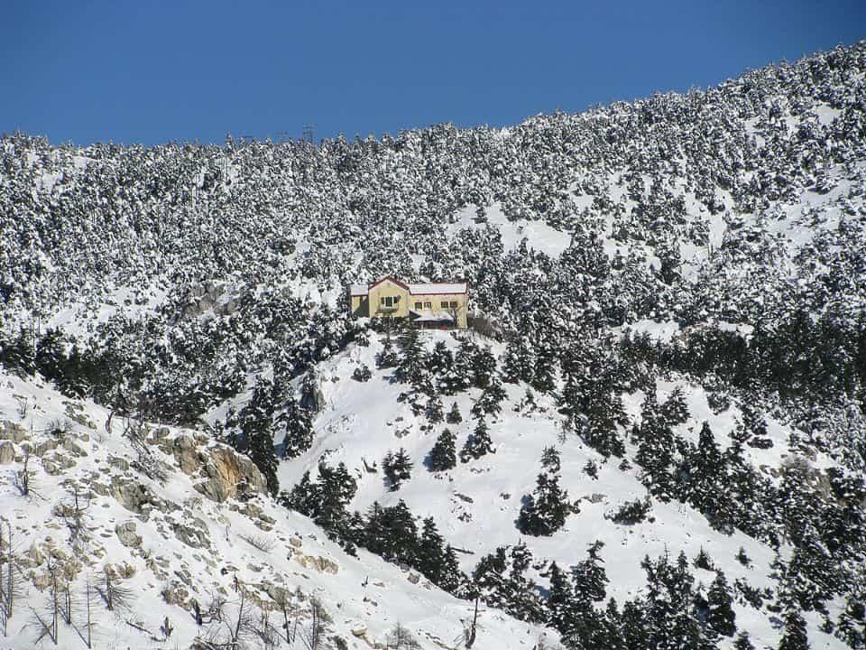 parnitha mountain hut snow lesser known sights Athens