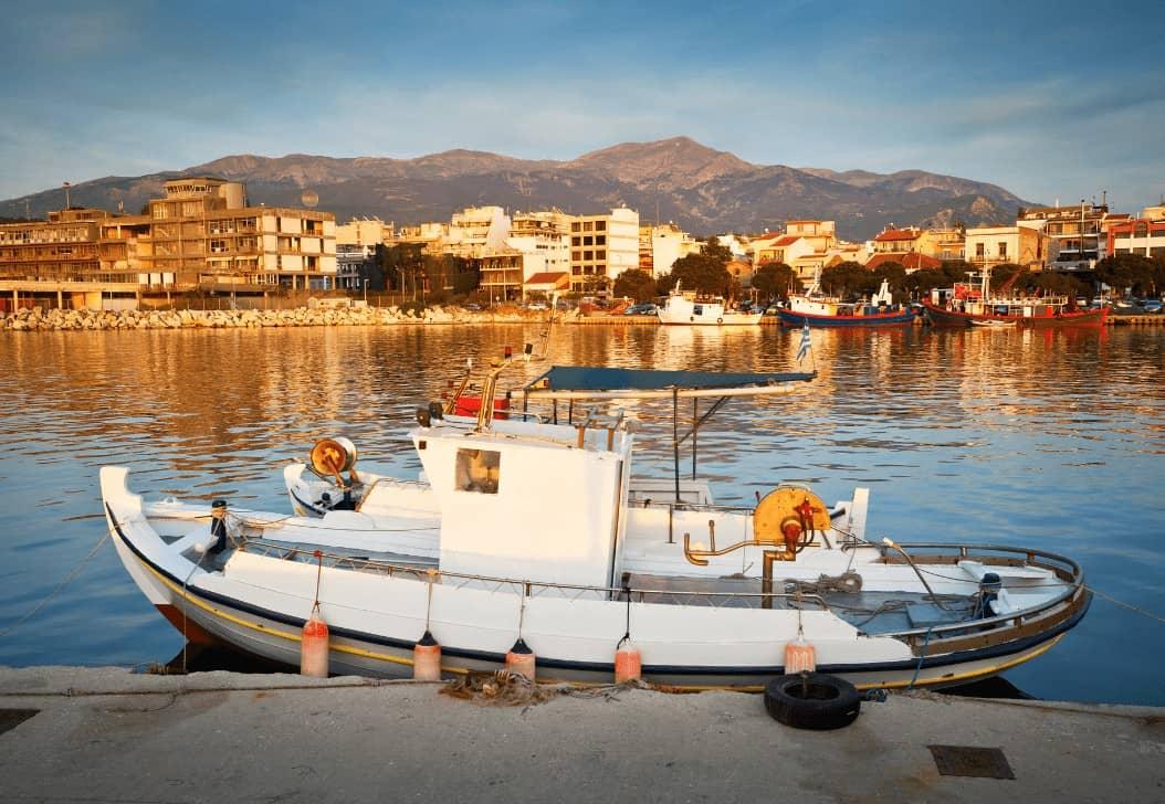 Patras Harbour Definitely Greece