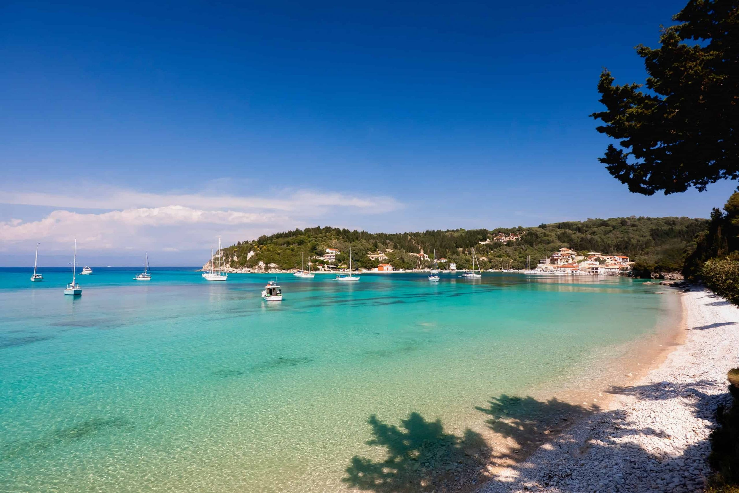 Lakka beach Paxos Antipaxos
