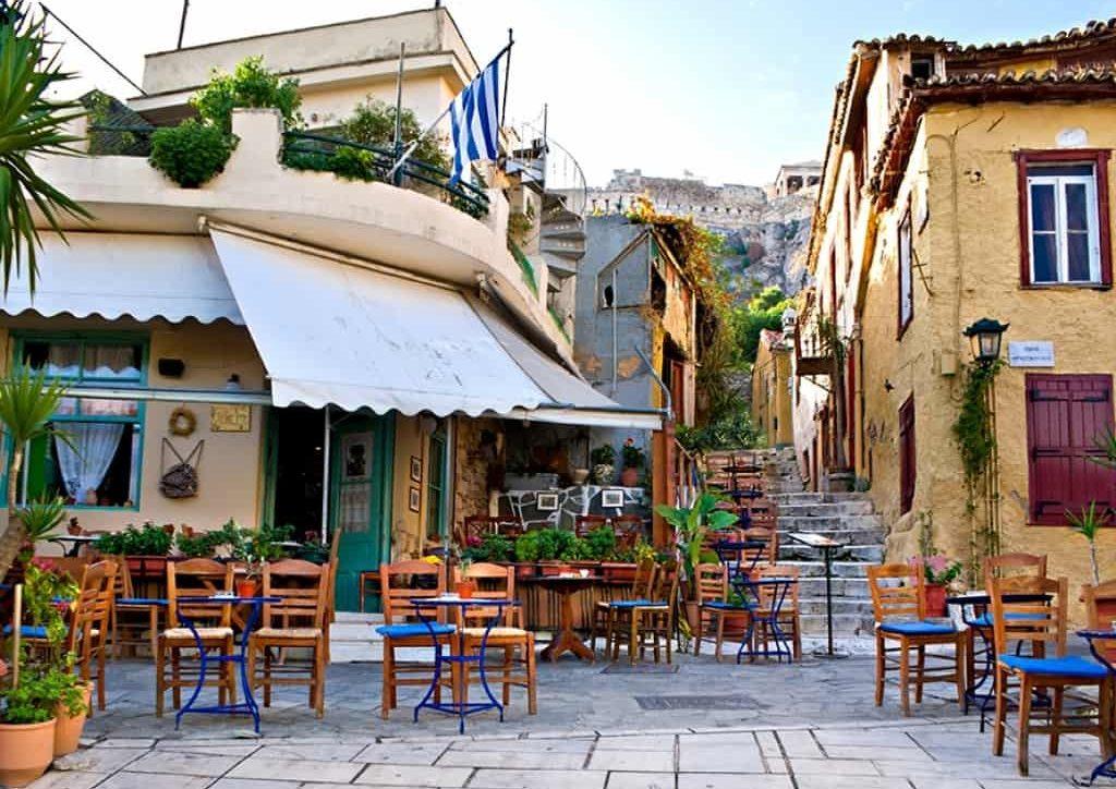 Coffee shop anafiotika greece athens