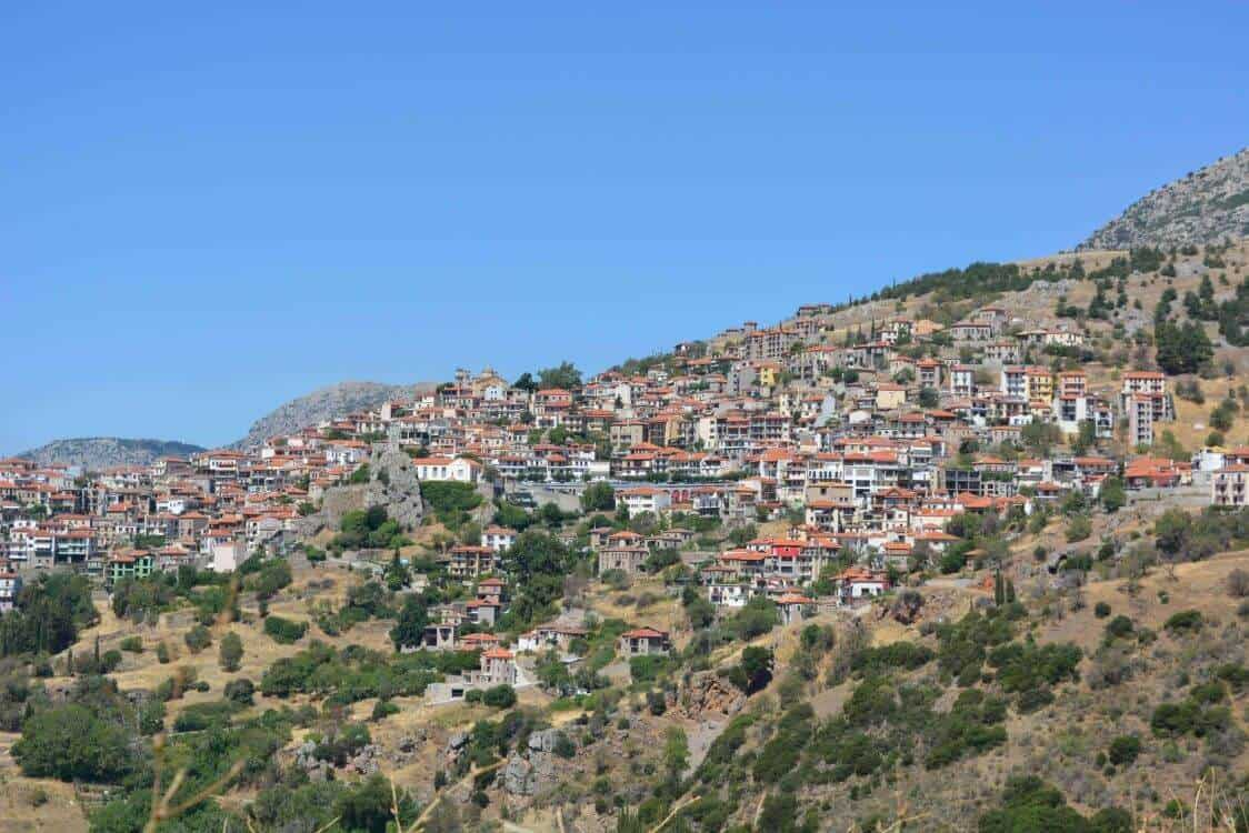 mainland villages Arahova in Greece