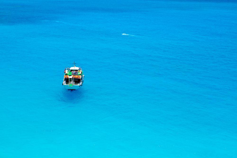 Canva Photo Greece Beach Island Yacht Boat