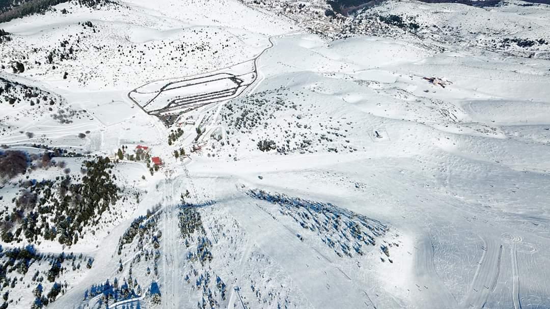 Winter Seli Ski Center Greece Snow