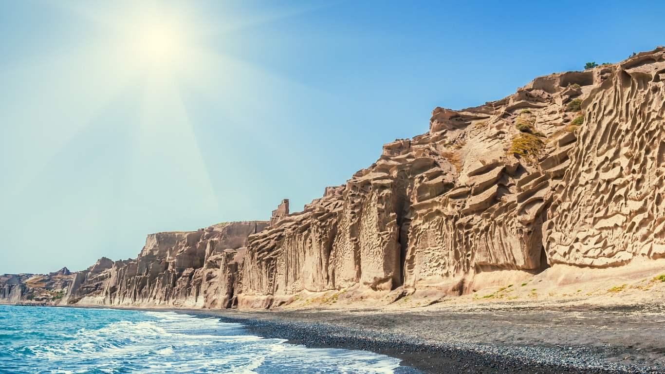 Beaches in Santorini Greece Vlychada