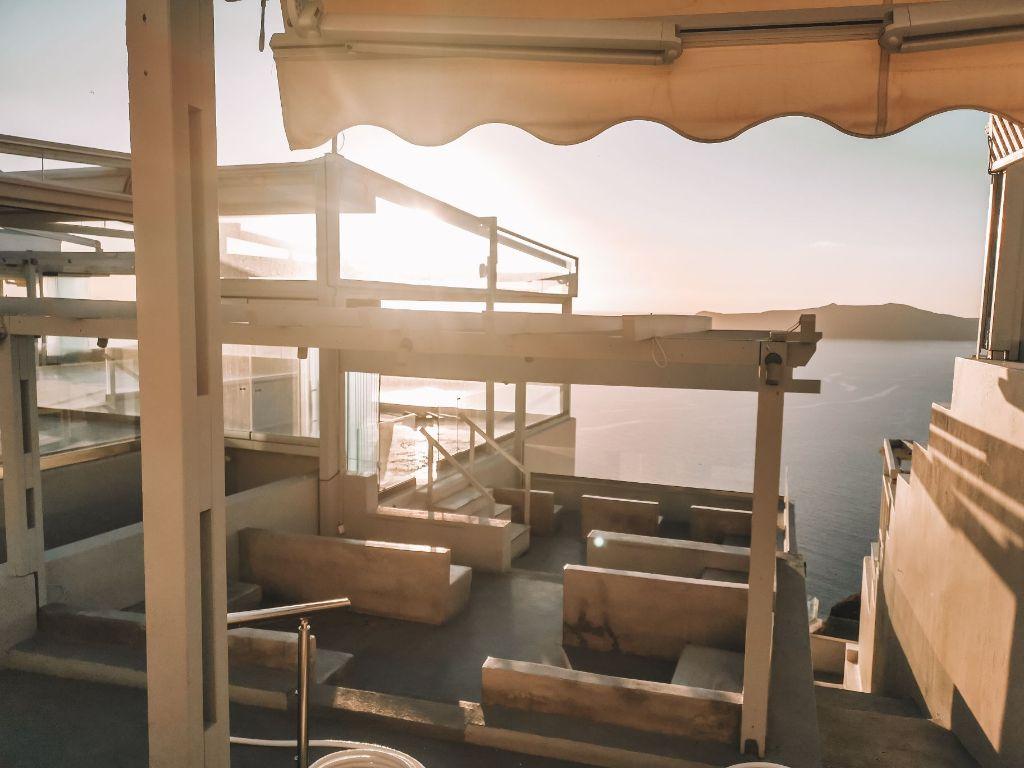 Santorini Winter Balcony Fira