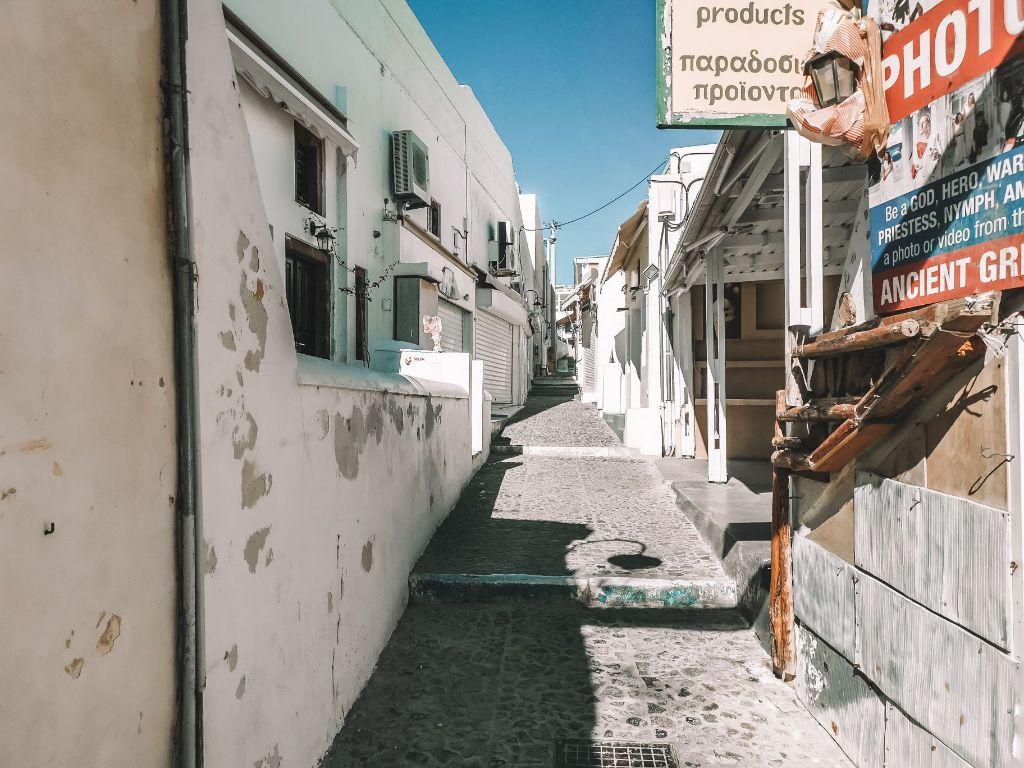 Santorini Alleyways Winter Fira