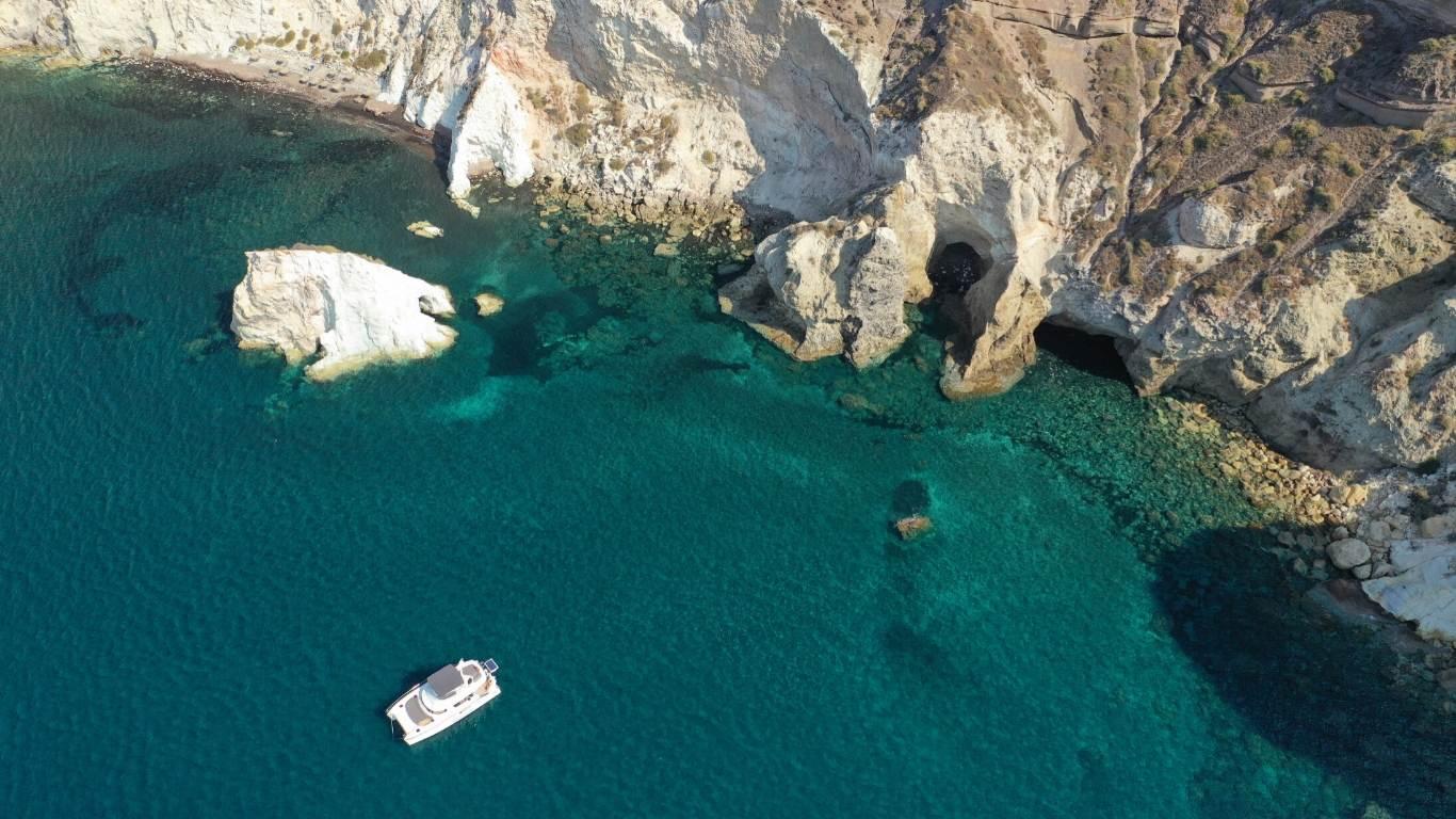 white-beach-santorini-aerial-shutterstock