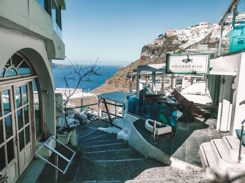 Santorini Island Renovations Streets