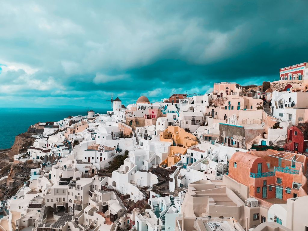 Winter Santorini Colourful Views