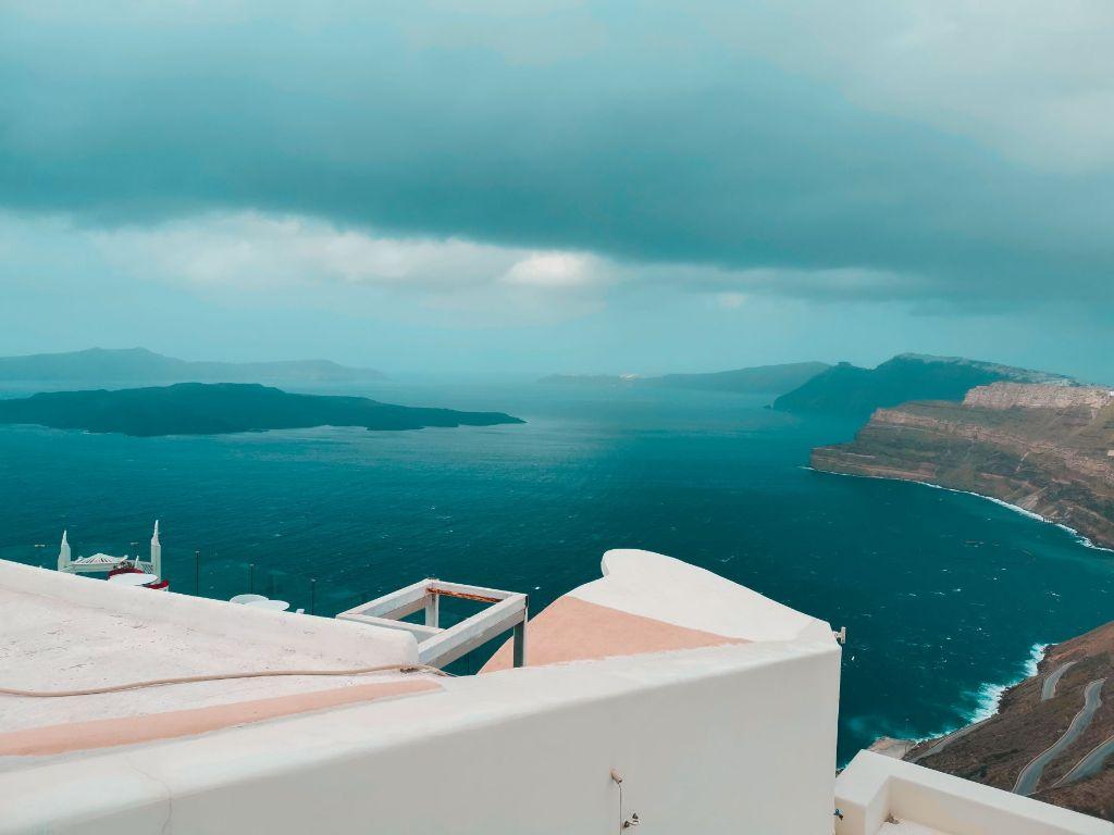 Santorini Rainy Day