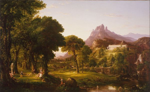 Thomas Cole - Dream of Arcadia - Public Domain