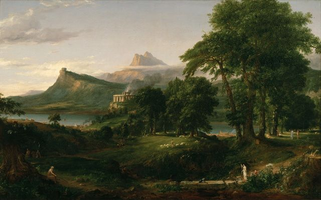 US Cities With Greek Names Thomas Cole - The Arcadian of Pastoral State