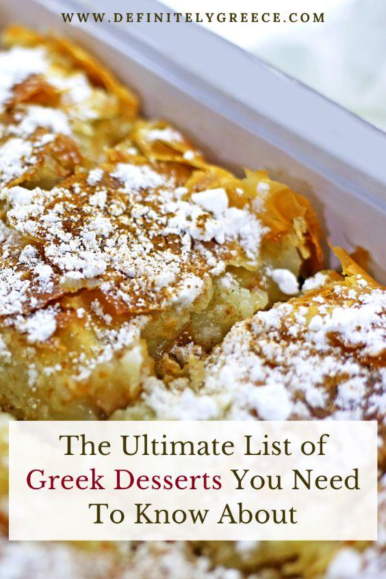list of greek desserts