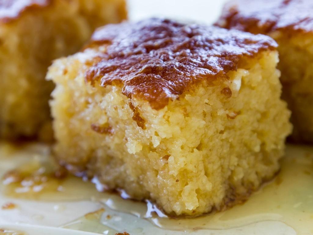 Ravani Revani Greek Syrup Dessert