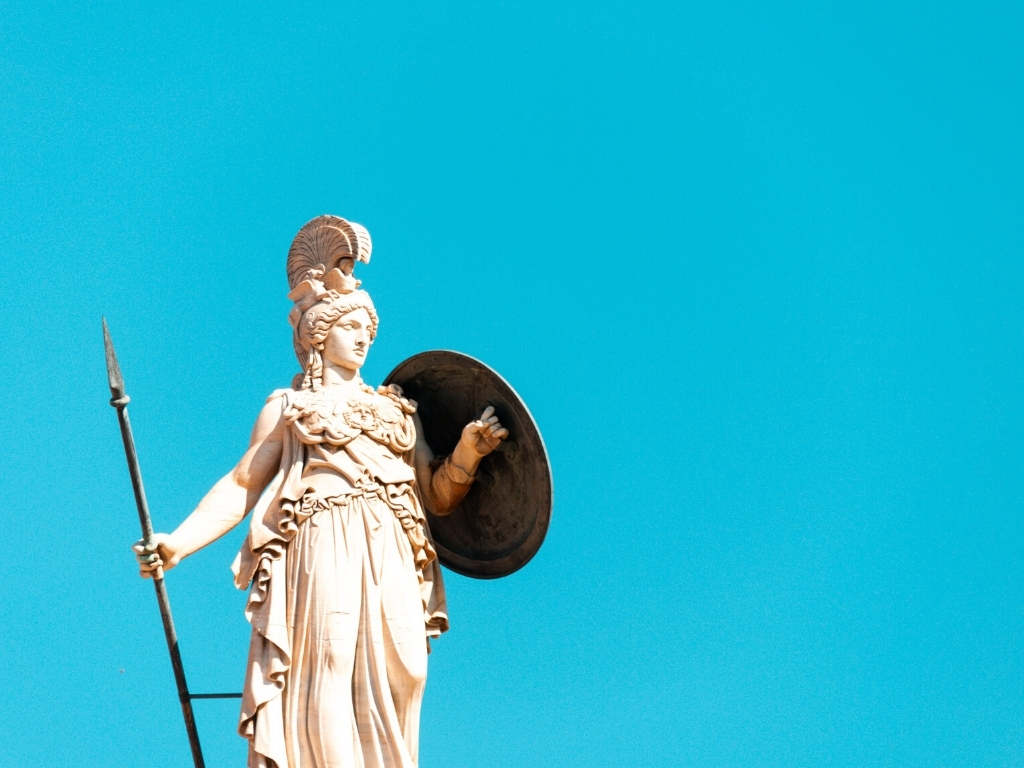 Statue-Athena-greek-god