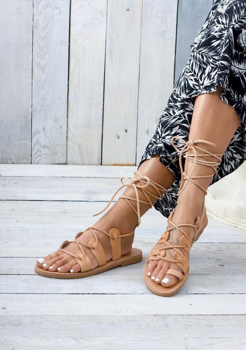 greek sandals Etsy - Greek Leather Lab