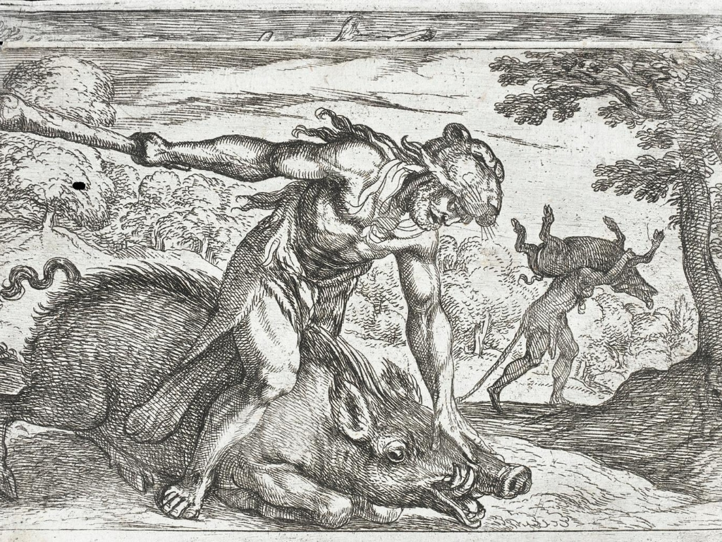 Hercules-and-the-boar