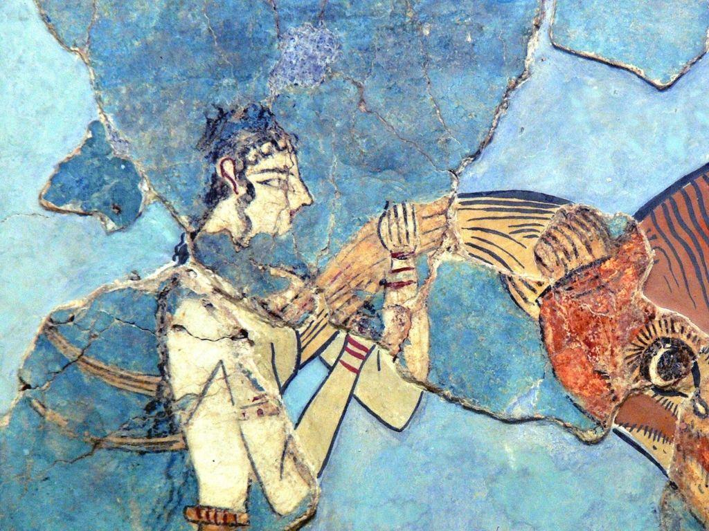 Bull-leaping-fresco-minoan-women